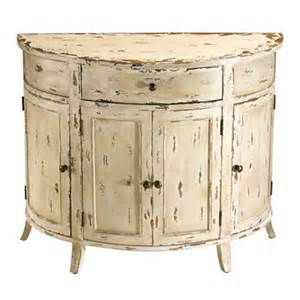 White Entrance Table Cyan Design 04259 Gable Distressed Chest Entry Table