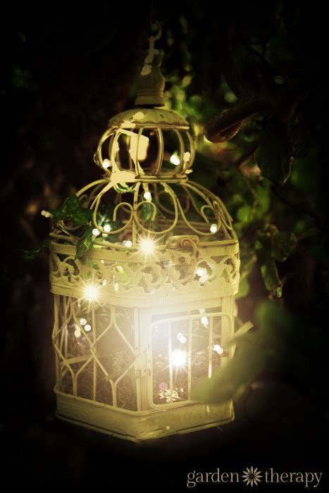 birdcage outdoor garden light  warm white string lights