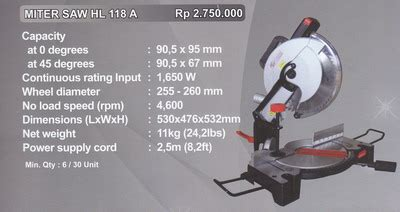 Murah Mesin Planner Mesin Serut Hl 1900b Pro product of mesin cutting supplier perkakas teknik distributor perkakas teknik glodok bengkel