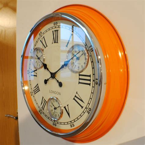 the modern clock a study of time keeping mechanism its construction regulation and repair classic reprint books retro vintage orange timezone wall clock uk