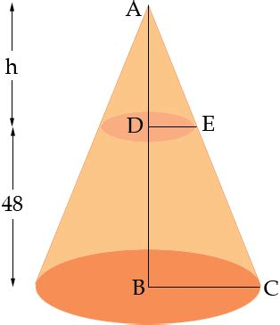 a truncated cone math central