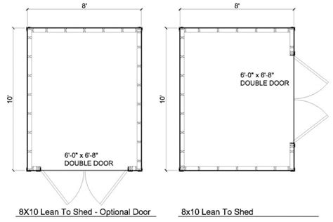 floor plans for sheds 8x10 lean to shed plans storage shed plans icreatables