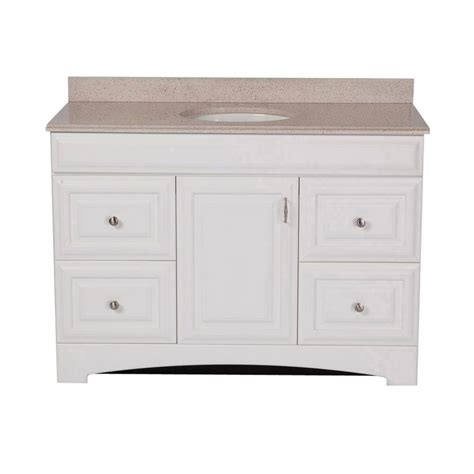 st paul providence 48 in vanity in white with colorpoint