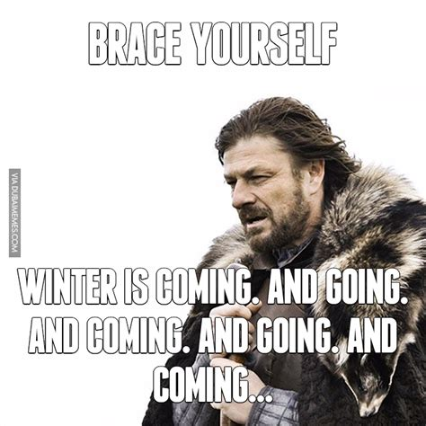 Winter Is Coming Meme - brace yourself winter is coming and going and coming