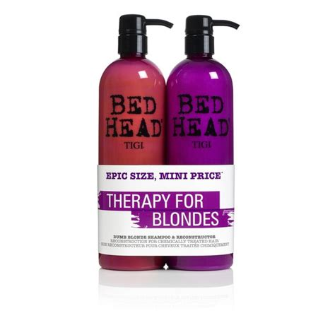 bed head dumb blonde tigi bed head dumb blonde tween duo 2 x 750ml worth 163 29