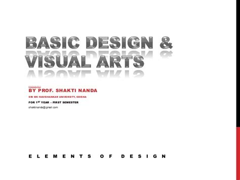 design elements basic basic design visual arts elements of design
