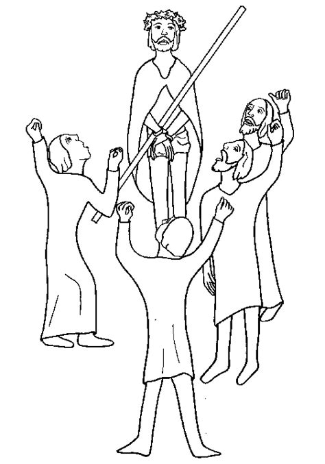 coloring pages jesus before pilate the site biblical coloring pages