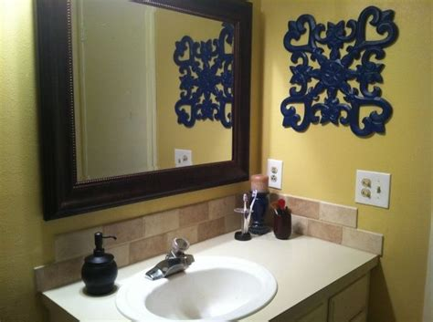 blue and yellow bathroom ideas blue yellow bathroom home projects
