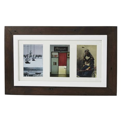 photo frame reclaimed wooden multi aperture photo frame m 246 a design