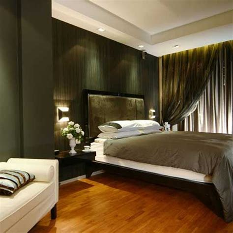dark green bedroom ideas contemporary bedroom with wood floor gray bed cover and