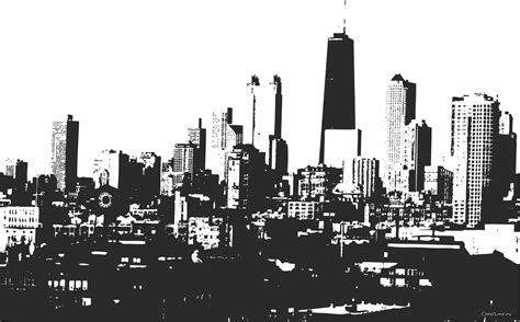 drawing chicago skyline clipart cliparts and others art