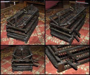 gabbia uccelli antica antica gabbia per uccelli in legno e ferro posot class