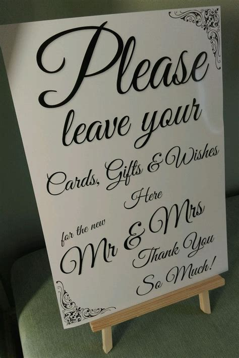 Wedding Card Box Sign by Wedding Sign Gift Table Post Box Wishing Well A4
