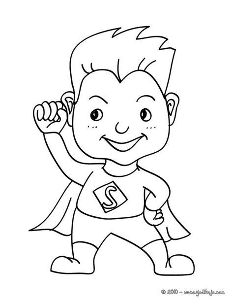 coloring page girl superhero dibujos para colorear vestido de superman es hellokids com