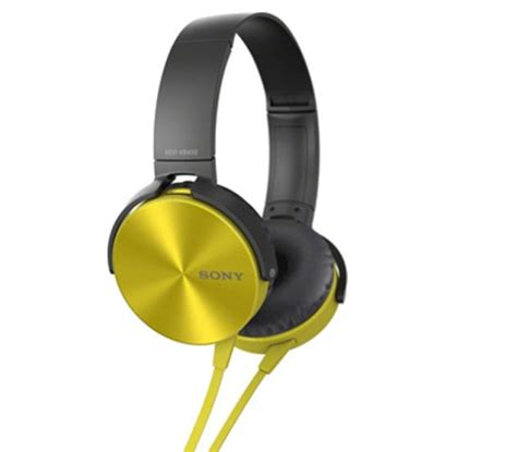 Headphone Sony Xb 450 Sony Mdr Xb 450 Yellow Headsets Headphone Price Cartcafe
