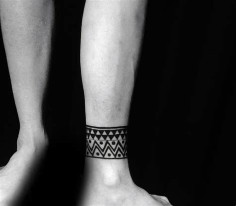 mens ankle tattoos 60 ankle band tattoos for lower leg design ideas