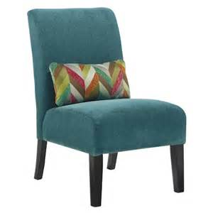 Teal Accent Chair Signature Design By Annora Teal Contemporary Armless Accent Chair With Pillow Beck S