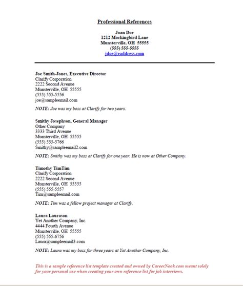 Resume Reference Page by References Sle How To Create A Reference List Sheet