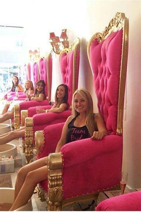 golden spa saloon nail beauty furniture pink luxury