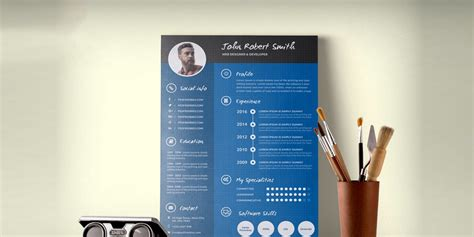 Creative Resume Cv Psd Template Cmyk Print Ready by Ultimate Collection Of Free Resume Templates 187 Css Author