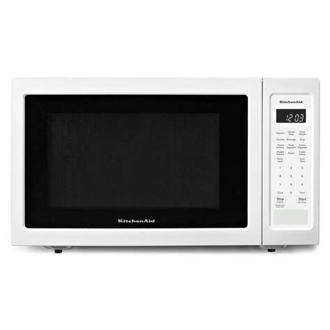 1200 Watt Countertop Microwave by Shop Kitchenaid 1 6 Cu Ft 1200 Watt Countertop Microwave