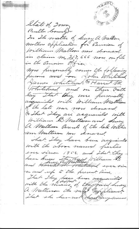 Proof Of Service Letter Navy The Genealogy Center Presents Our Heritage Matteson William