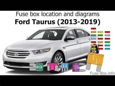 fuse box location  diagrams ford taurus   youtube