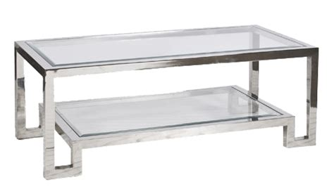 transparent glass coffee table winston nickel coffee table worlds away