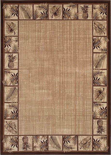 Hawaiian Print Area Rugs by Coastal Kathy Ireland Hawaii Ranch Beige Multi Area Rug