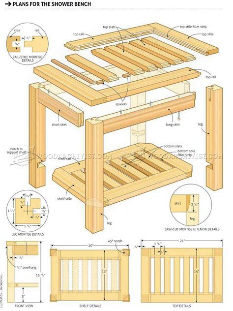 shower bench plans woodarchivist