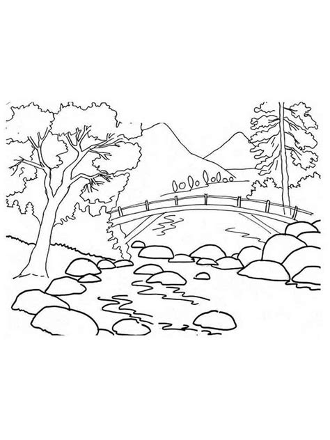 Mountain Coloring Pages Print
