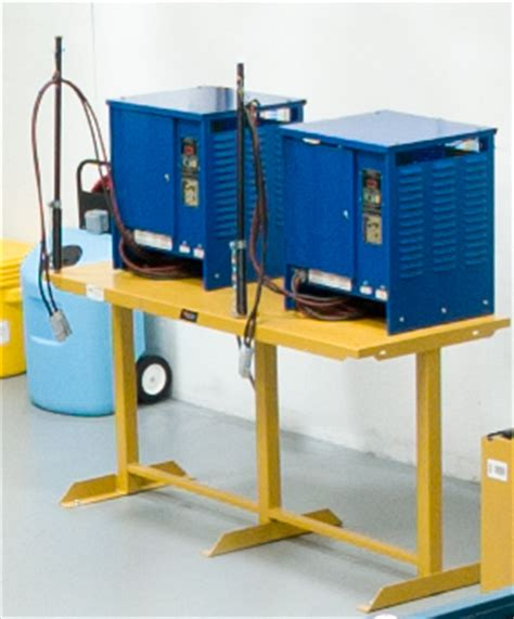 battery charger stand how to safely store forklift battery chargers bhs