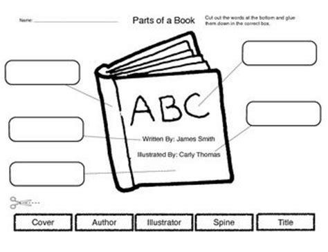 Parts Of A Book Worksheet by Parts Of A Book Book The Words And Words