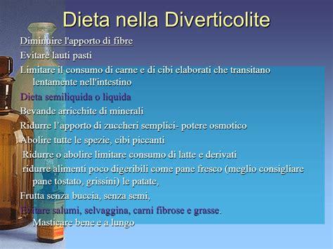 alimenti per diverticolite dieta nella patologie dell apparato gastroenterico ppt