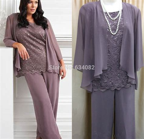 plus size dressy pant suits for weddings hot free shipping lace woman mother of the bride pant