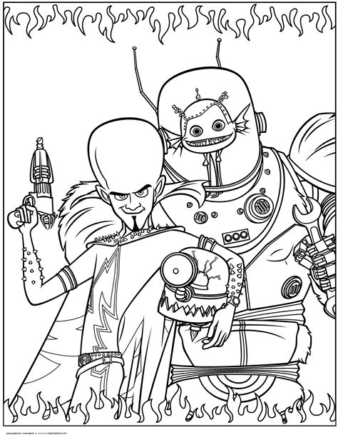 Megamind Coloring Pages Printable Megamind Coloring Pages