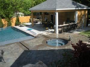 Backyard Pool Pavers The Outdoor Living Space This Backyard Features A