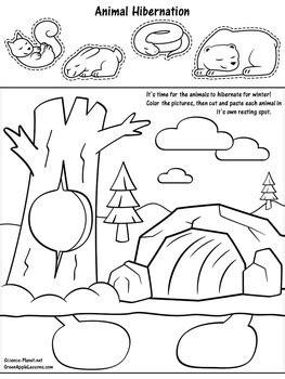 hibernation coloring pages preschool hibernation activity winter kindergarten and activities