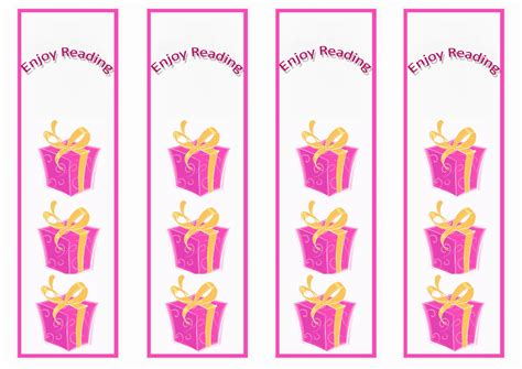 printable birthday bookmarks birthday bookmarks birthday printable