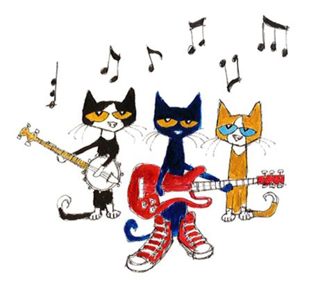 Pete The Cat Rock On And pete the cat clipart with guitar pete the cat clip