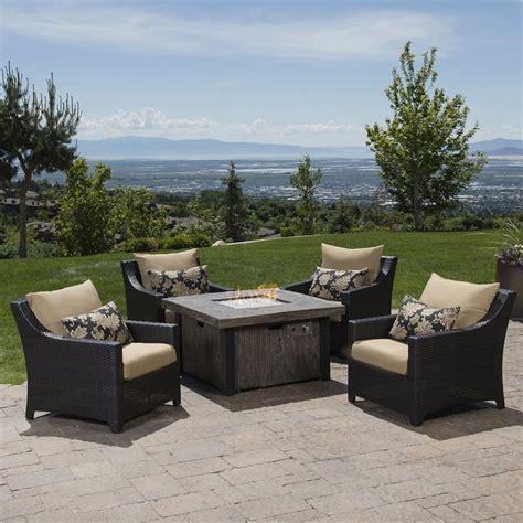 shop rst brands deco 5 wicker patio conversation set