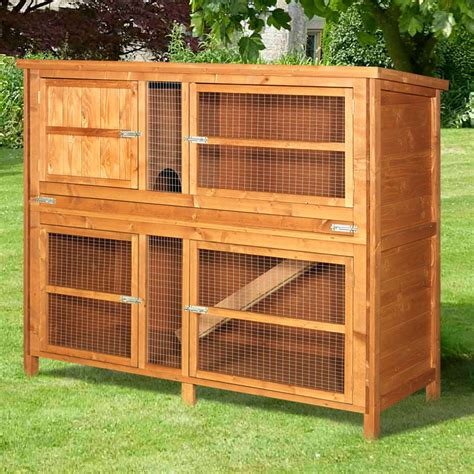 Rabbit Hutch 5ft home and roost deluxe rabbit hutches luxury rabbit hutch