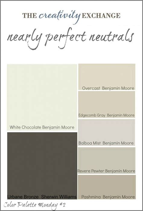 neutral colors readers favorite paint colors color palette monday