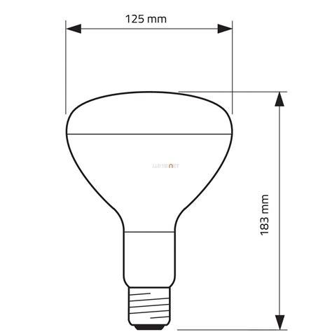Lu Philips Pemanas Ir 375w philips r125 ir 375w e27 230 250v cl infra l 225 mpa lumenet