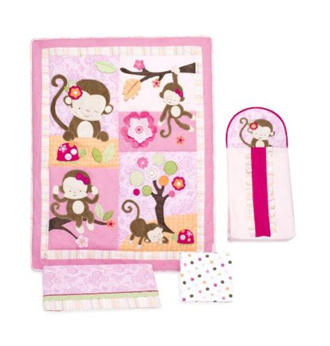 line crib bedding line 4 crib bedding set miss monkey babitha