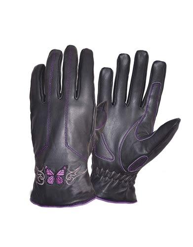 womens light purple tool belt leather s motorcycle gloves purple butterfly