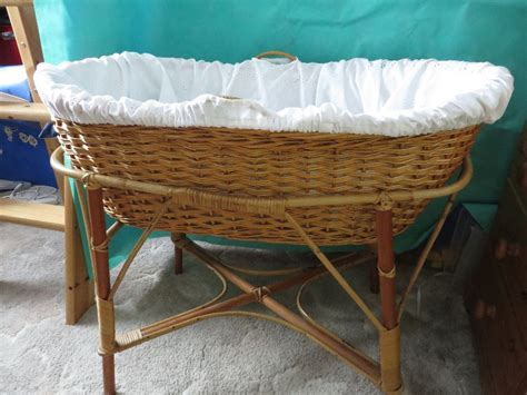 wicker cot crib moses basket in havant hshire