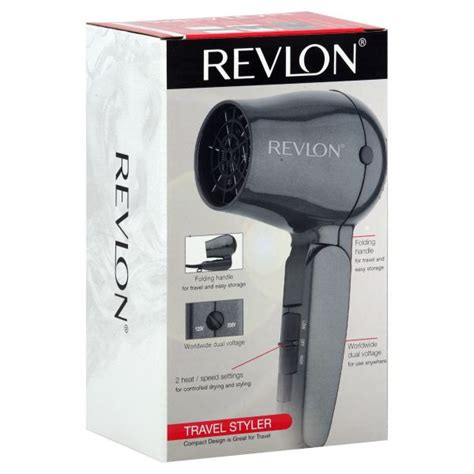 Hair Styler Dryer 1600 Watts by Revlon Dryer 1600 Watt Travel Styler 1 Dryer
