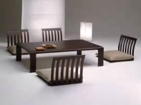 Japanese Dining Table by Floor Furnitures Japan Style Dining Room Tables Amp Chairs