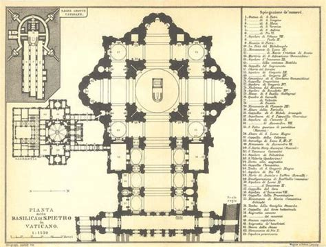 basilica floor plan 1926 st peters basilica floor plan vatican city black
